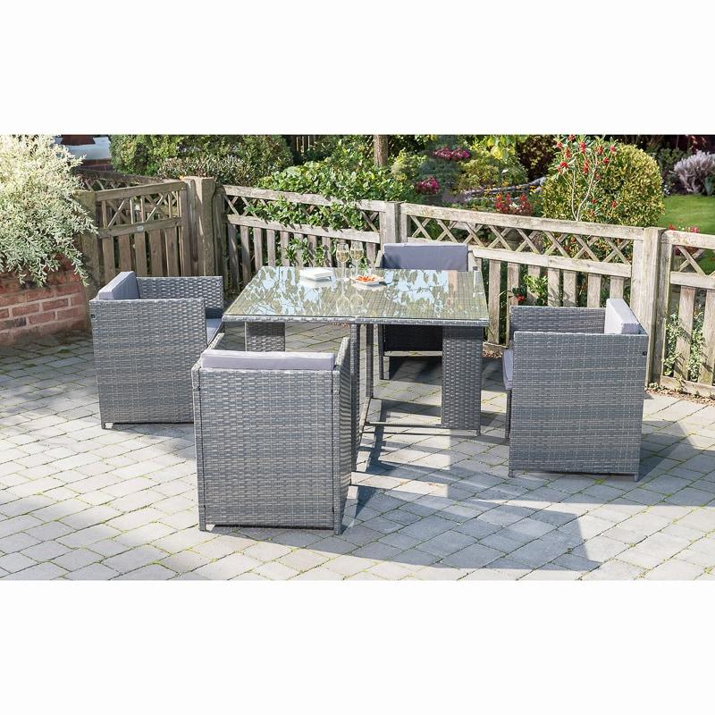 Sorrento Cube Patio Set 5pc | Garden Furniture - B&M
