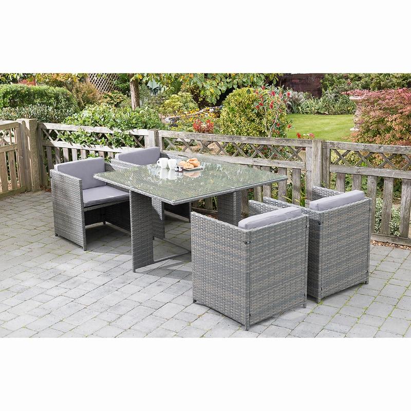 Sorrento Cube Patio Set 5pc Garden Furniture B Amp M