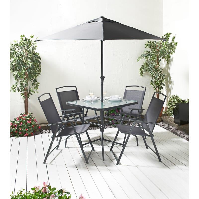 Seattle Premium Patio Set 6pc | Garden Furniture - B&M Stores