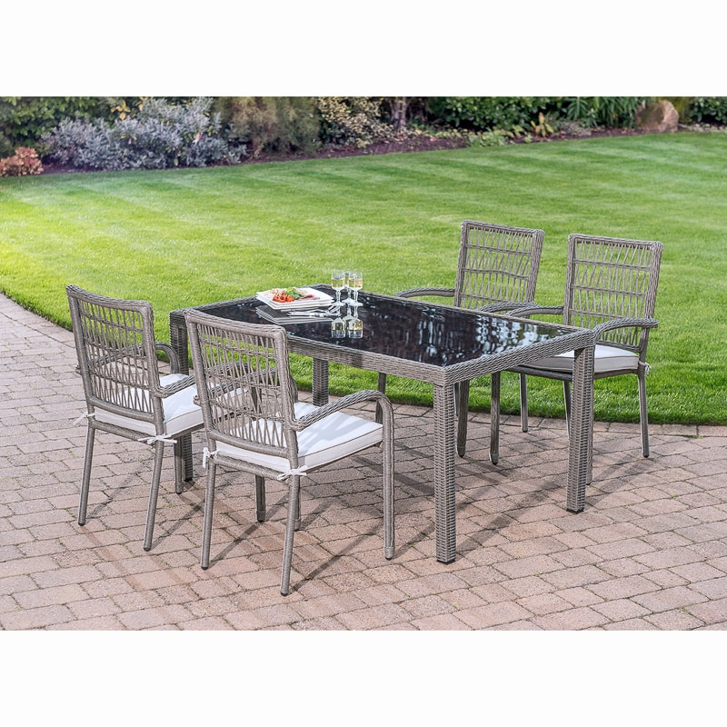 Hertfordshire Luxury Dining Set 5pc Garden Furniture B Amp M