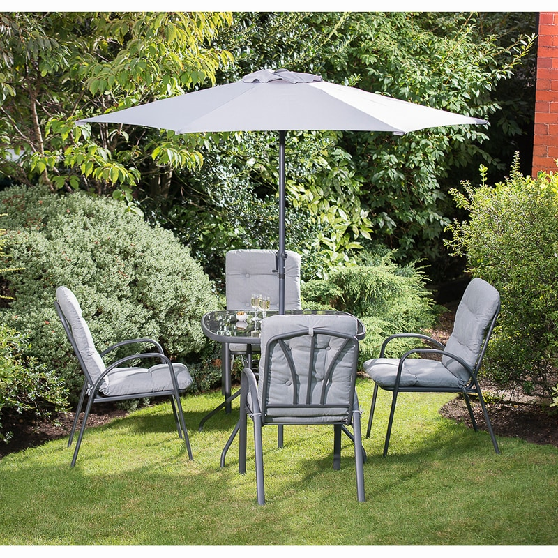39ae2c530c7f Madison Premium Padded Patio Set 6pc | Garden Furniture - B&M