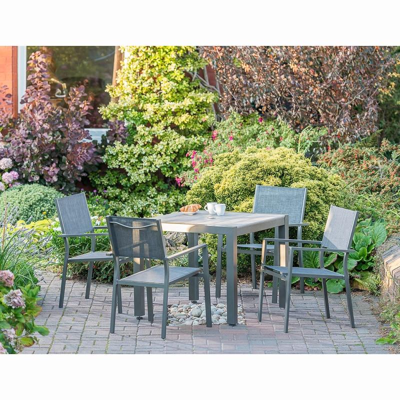 Monaco Dining Set 5pc | Garden Furniture - B&M