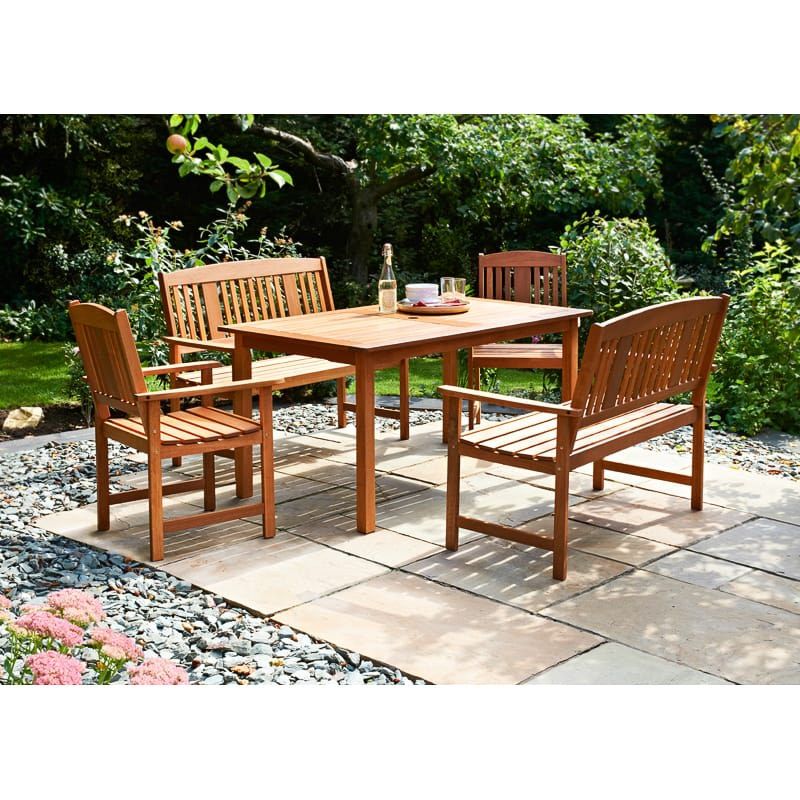 Jakarta Wooden Patio Set 5pc Garden Amp Outdoor Furniture
