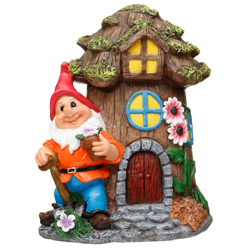 Garden Gnome House Tree Garden Decorations B Amp M