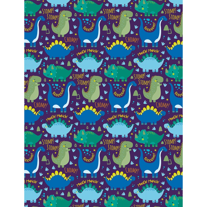 Kids Everyday Wrapping Paper Dinosaurs 3m Gift Wrap B Amp M