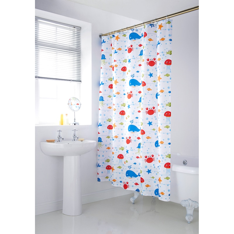 339064 Character Shower Curtain Sea31
