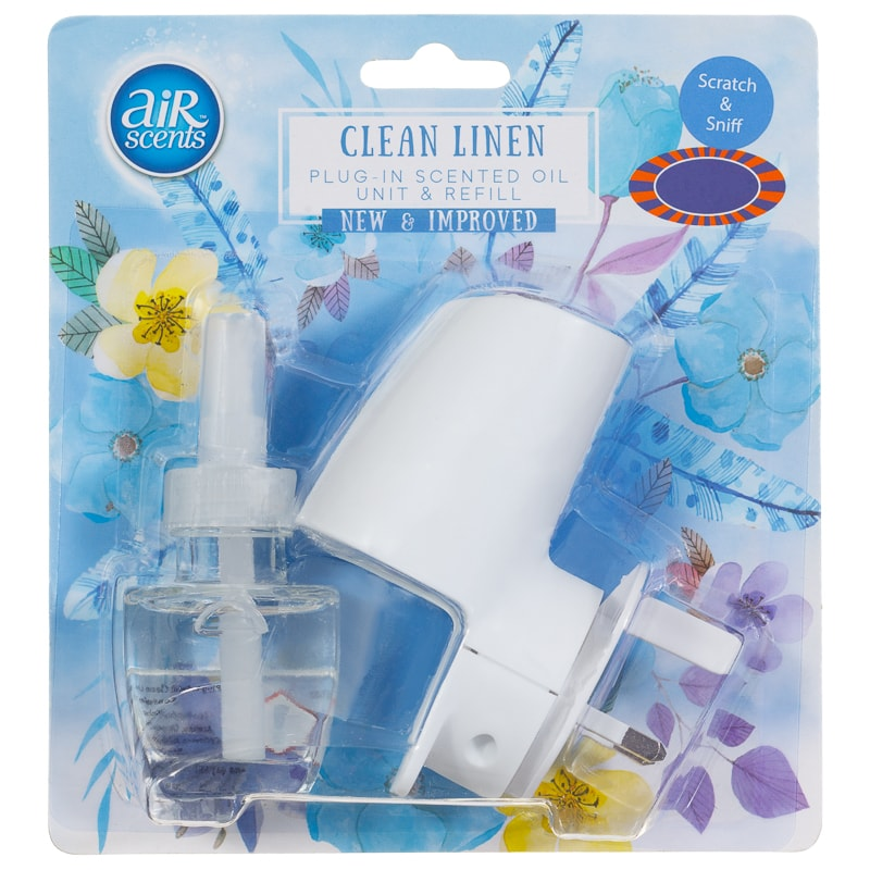 AirScents Plug In Scented Oil Unit & Refill - Clean Linen