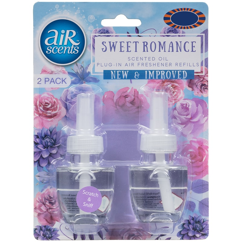 AirScents Plug In Scented Oil Refill 2pk - Sweet Romance
