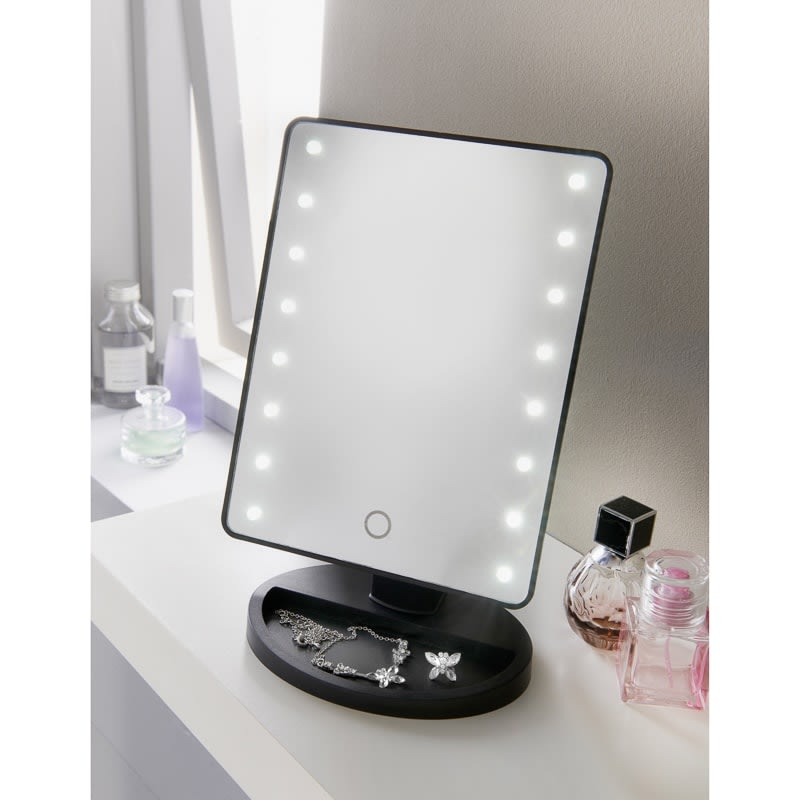 Retreat LED Cosmetic Mirror - Black