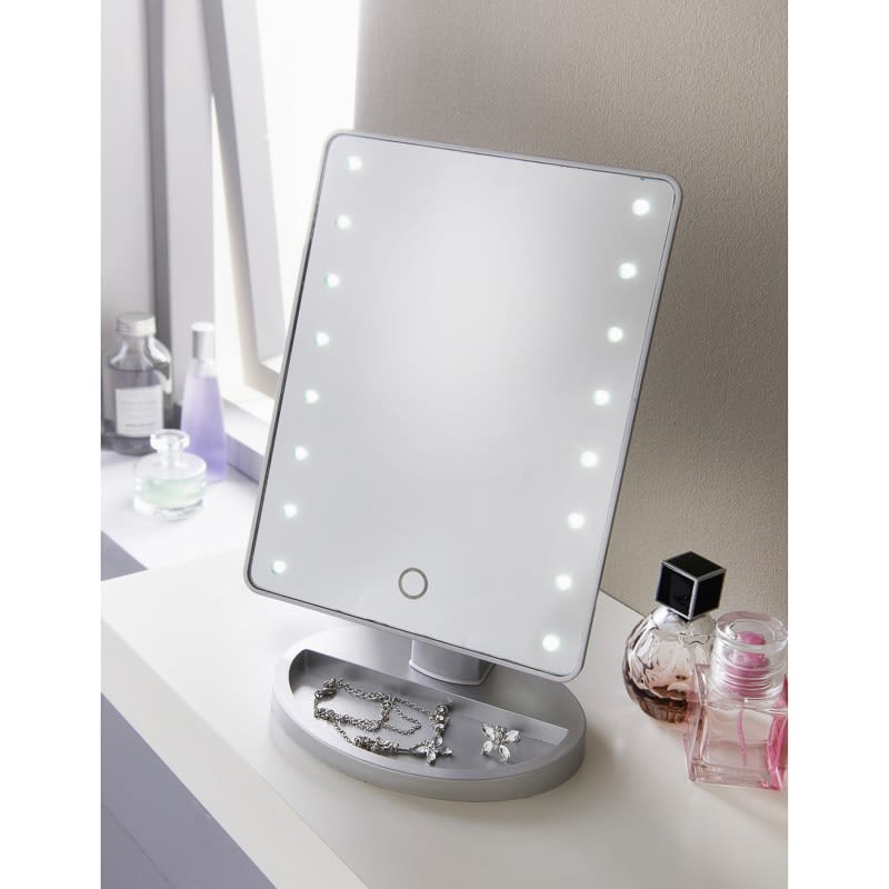 Makeup Mirror.Retreat Led Cosmetic Mirror Silver