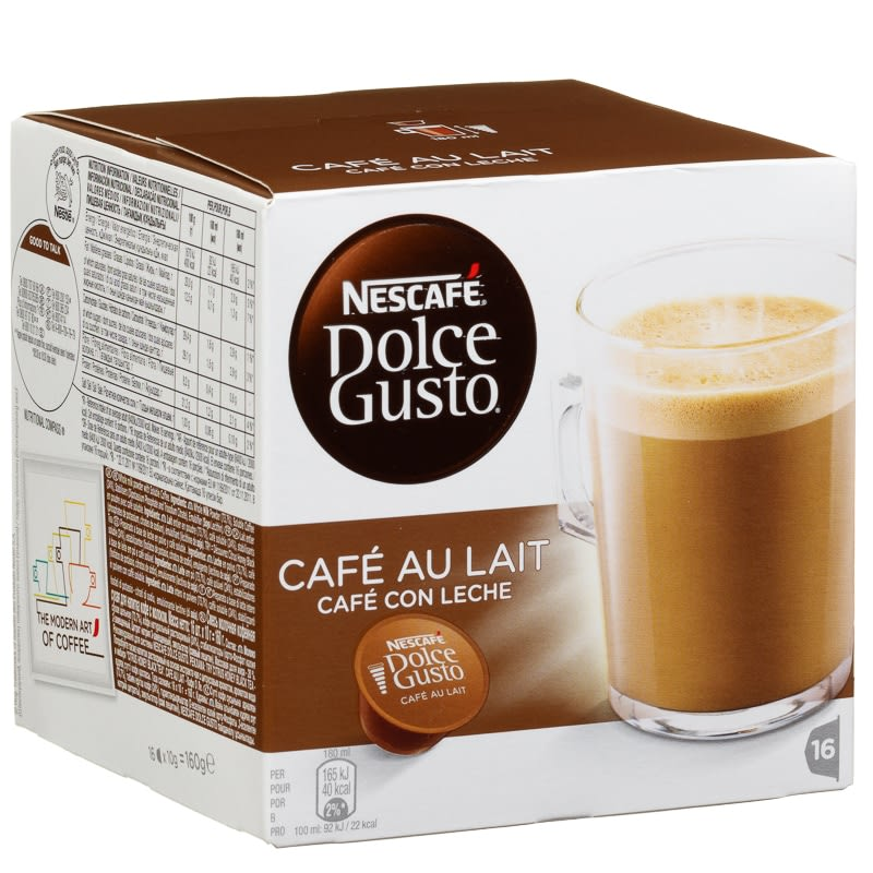 nescafe dolce gusto cafe au lait coffee hot drinks. Black Bedroom Furniture Sets. Home Design Ideas