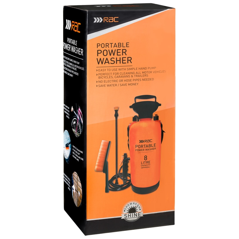 Rac Portable Power Washer 8l Car Cleaning B Amp M