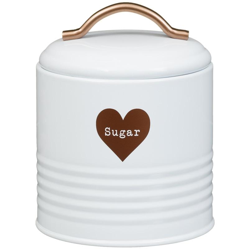 Heart Tea Coffee Sugar Set 3pc Copper