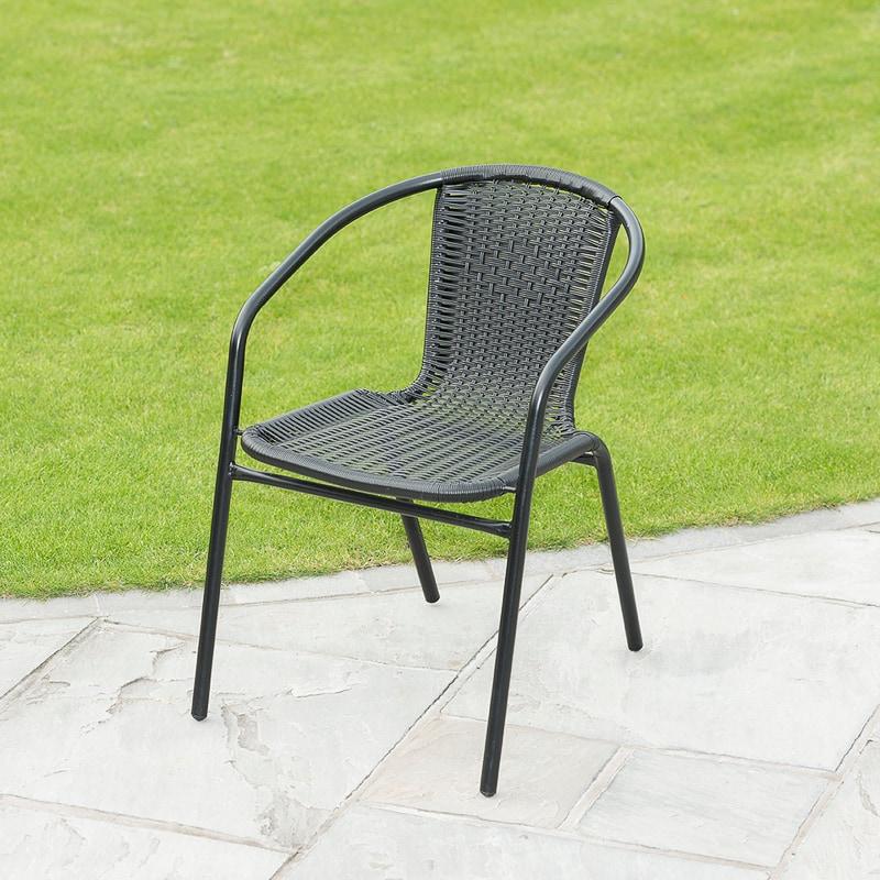 Rattan Effect Bistro Chair Garden Furniture B Amp M
