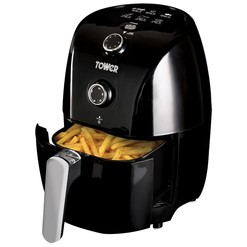 tower compact air fryer 1 5l food preparation b m. Black Bedroom Furniture Sets. Home Design Ideas