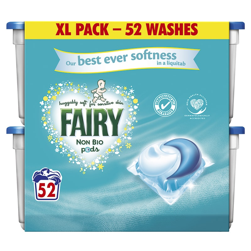 Fairy Non Bio Pods 52pk Washing Laundry