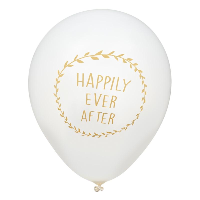 Wedding balloons 20pk gold wedding decorations bm 332097 happily ever after wedding balloons 20pk gold junglespirit Images