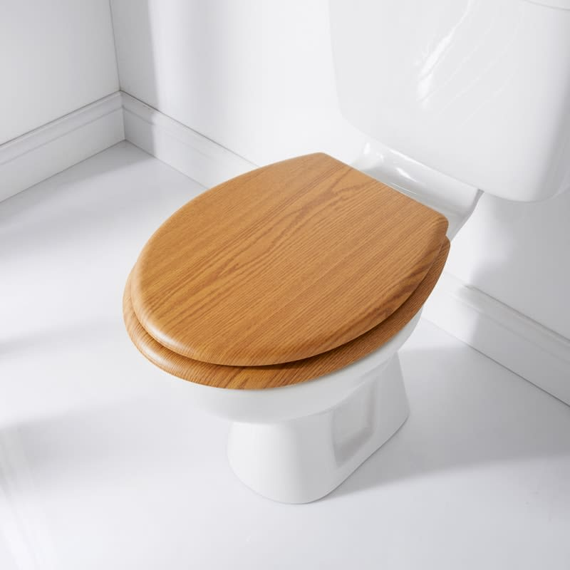 Addis Wood Finish Toilet Seat - Oak