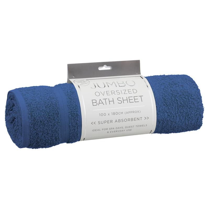 Bath Sheets Oversized: Jumbo Oversized Bath Sheet - Ocean Blue