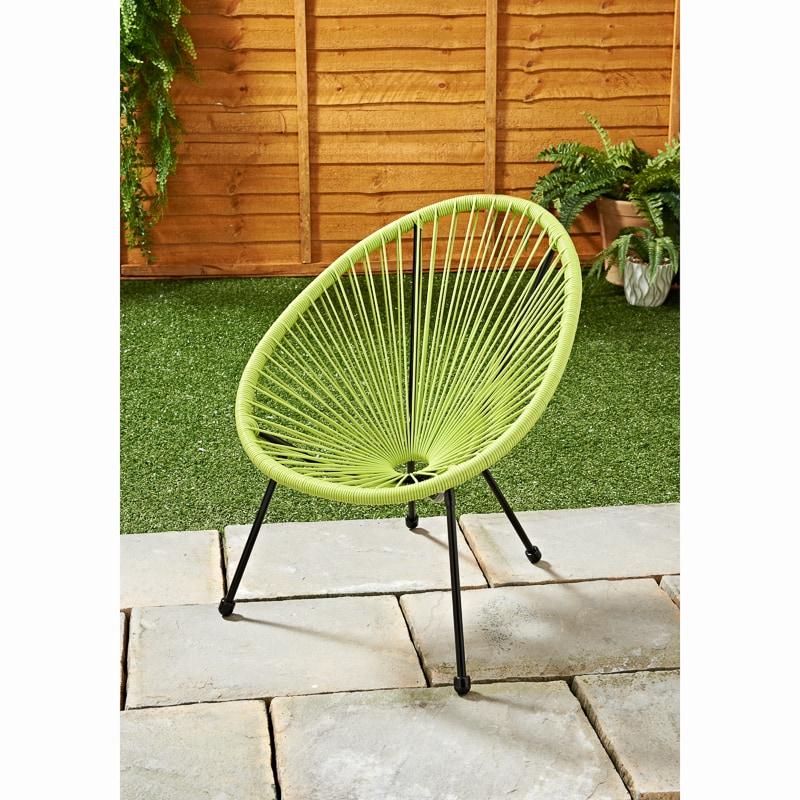Kids Hawaii String Chair Lime Garden Furniture B M