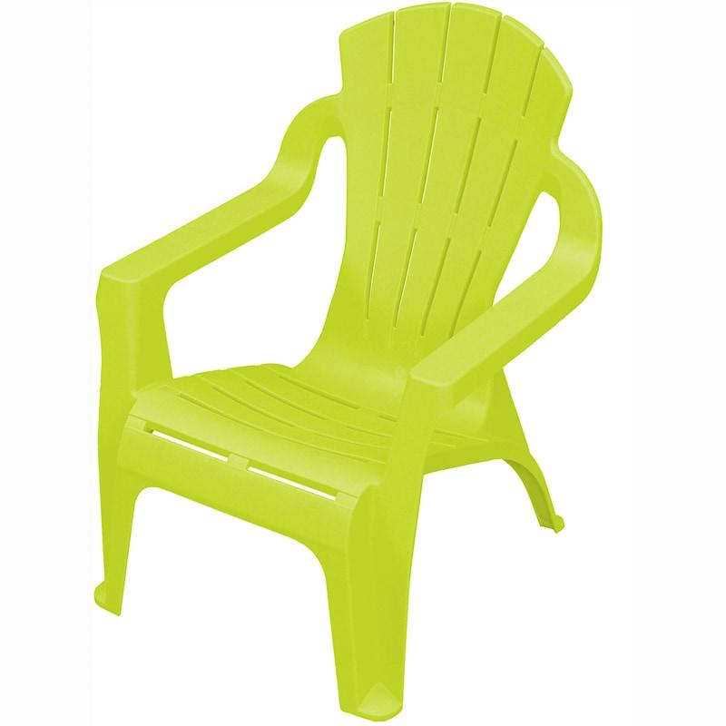 Kids Plastic Fan Chair Lime Garden Furniture B Amp M