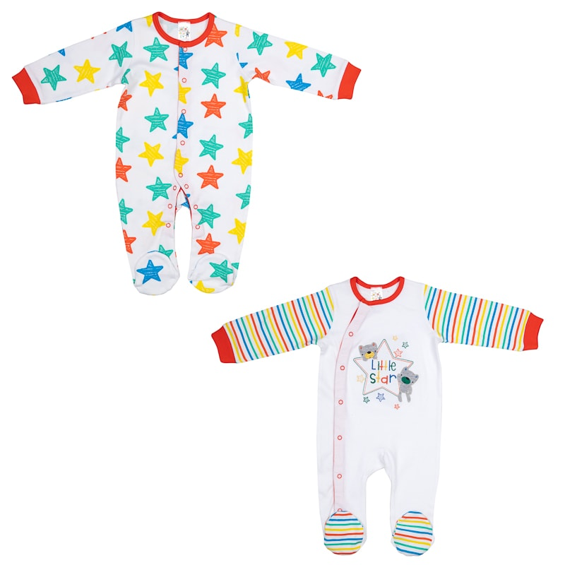 f5bbbad1d Baby Sleepsuit 2pk - Little Star