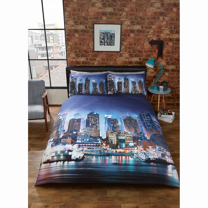 New York City Single Duvet Night Duvet Cover B Amp M