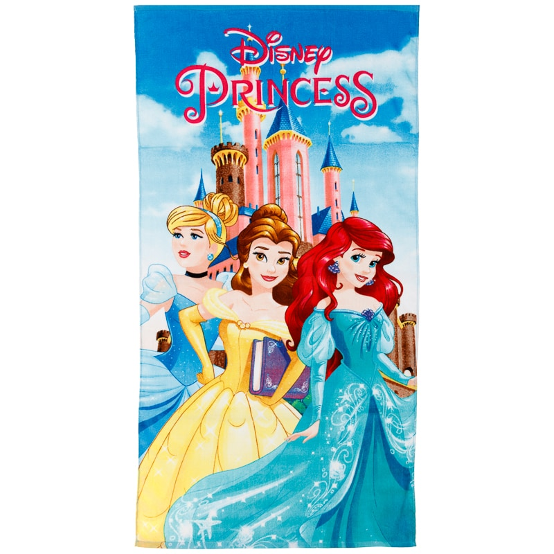 Monogrammed Princess Beach Towel: Kids Disney Princess Towel