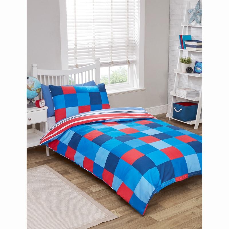 Kids Single Duvet Twin Pack Blue Bedding B Amp M