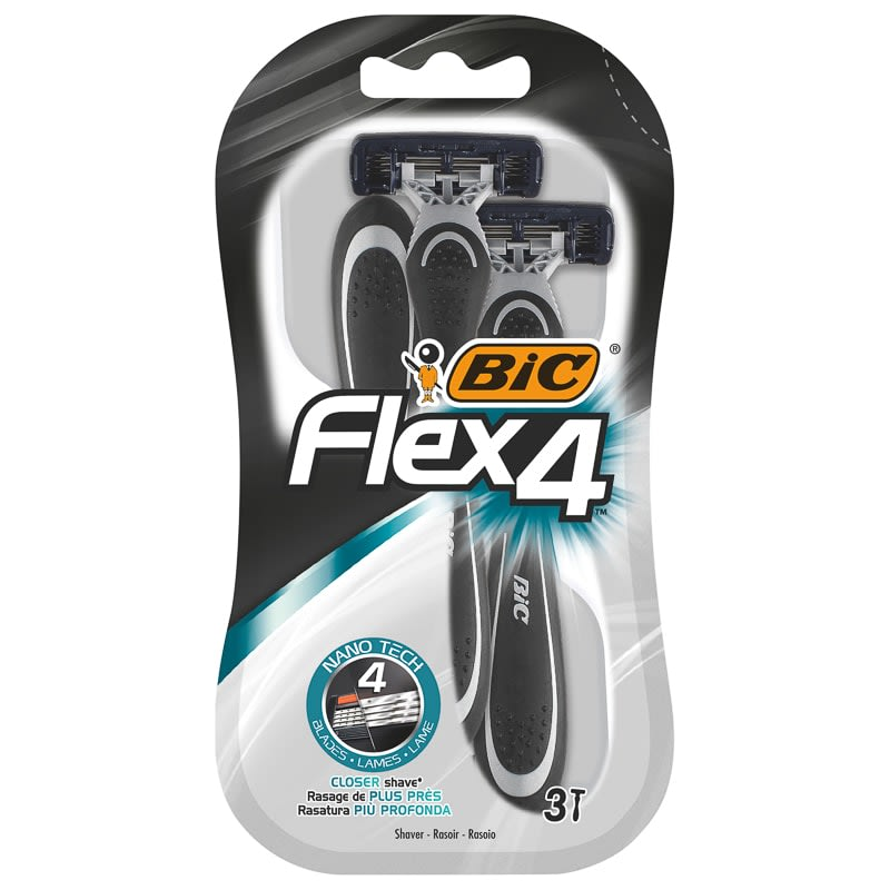 BIC Flex 4 Disposable Razors 3pk