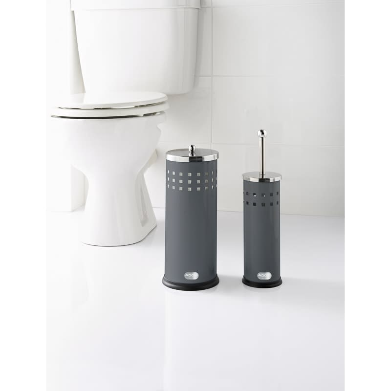 Addis Toilet Brush & Roll Holder Set 2pc - Grey