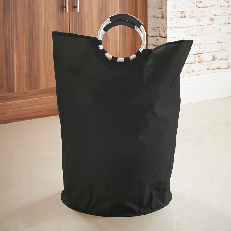 Addis Laundry Bag with Handles - Black