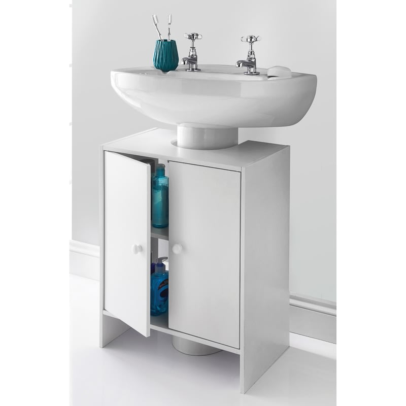 spaceways undersink cabinet white bathroom furniture b m. Black Bedroom Furniture Sets. Home Design Ideas