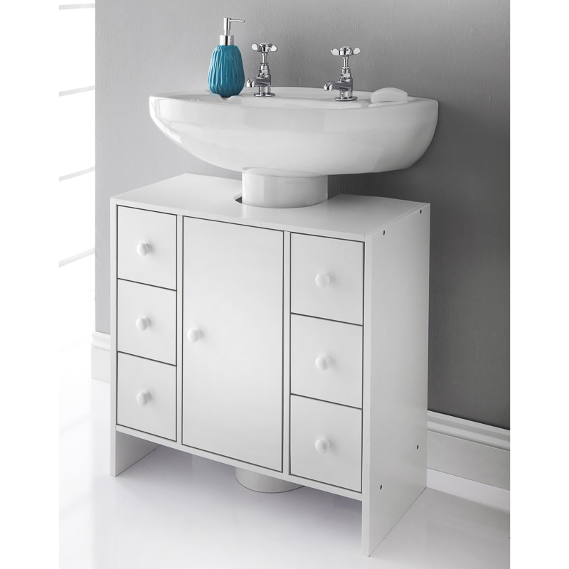 bathroom cabinets under sink spaceways 6 drawer undersink cabinet bathroom furniture 15668