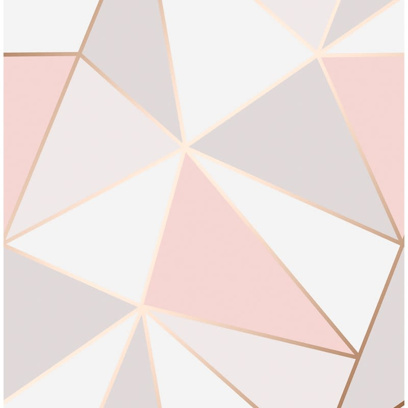 Apex Geo Wallpaper Rose Gold Wallpaper B M