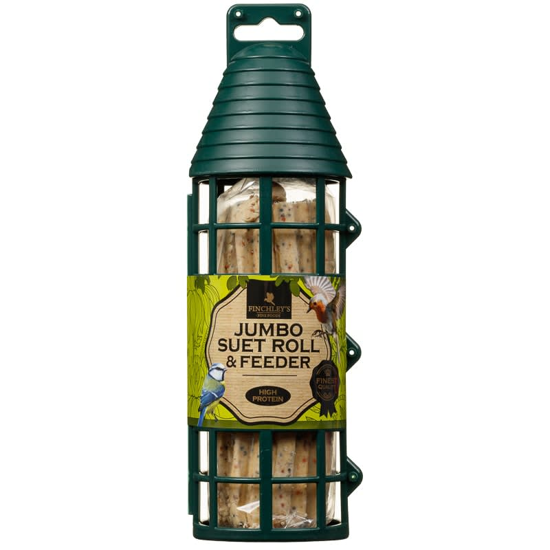 Finchley's Suet Log in Feeder 450g