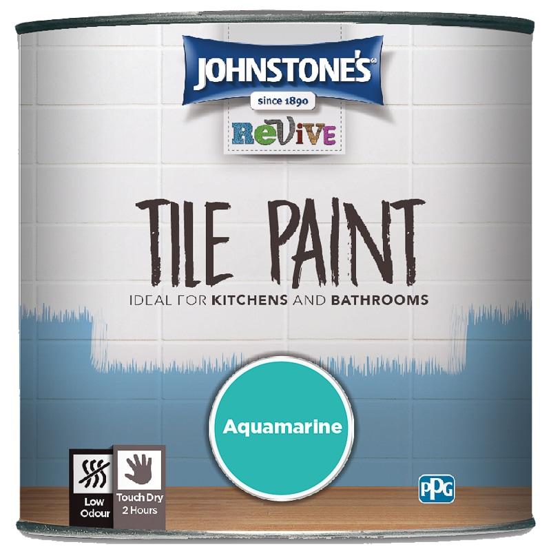 Johnstone S Revive Tile Paint 750ml Aquamarine Paint B Amp M