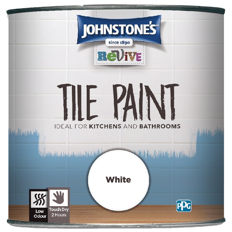 Surprising Johnstones Revive Tile Paint 750Ml White Interior Design Ideas Gresisoteloinfo