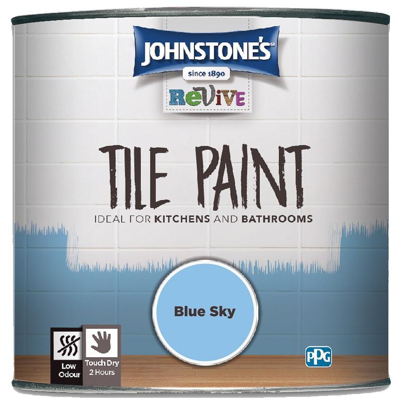 Fantastic Johnstones Revive Tile Paint 750Ml Blue Sky Interior Design Ideas Grebswwsoteloinfo