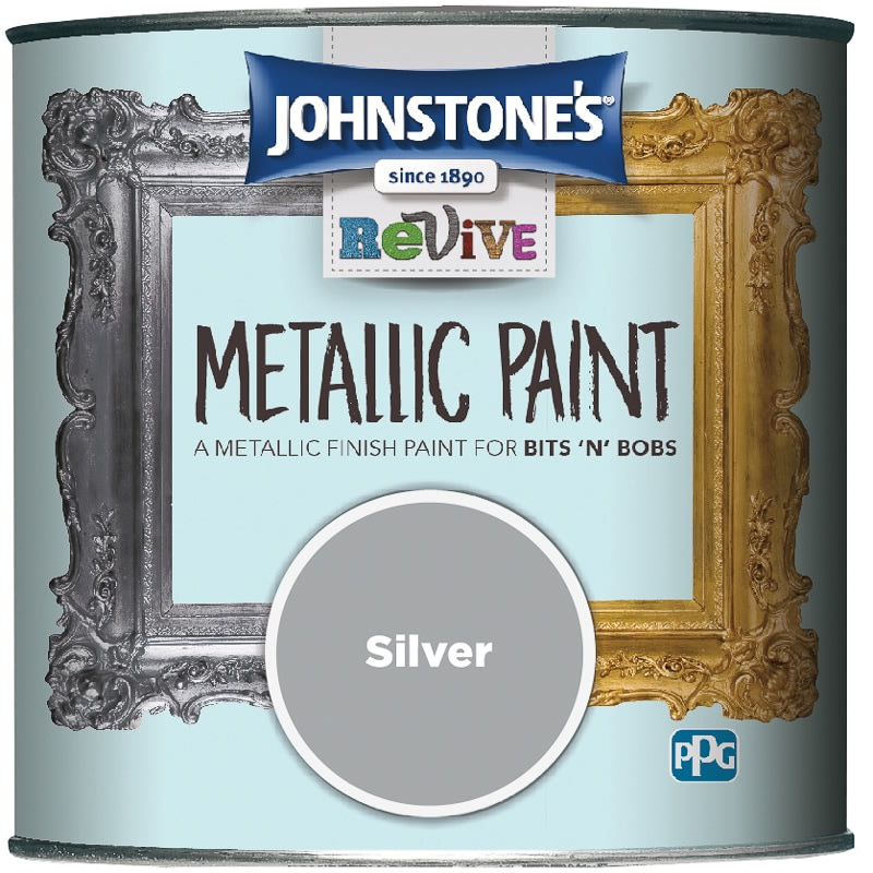 Johnstone's Revive Metallic Paint 375ml - Silver
