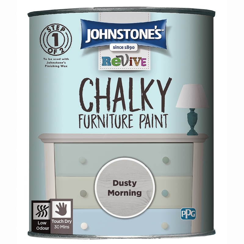 Johnstone S Revive Chalky Furniture Paint Dusty Morning B M