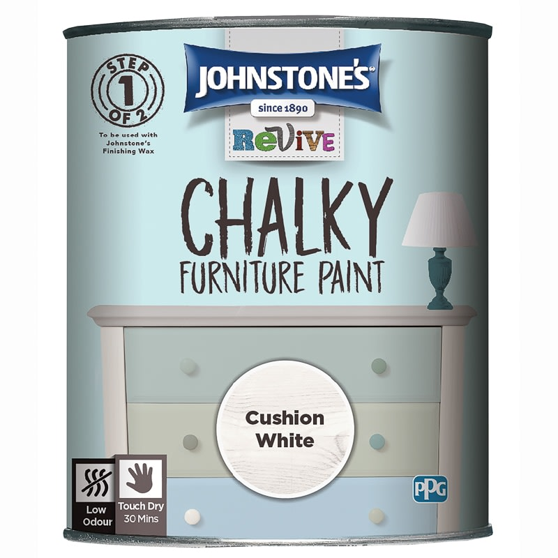 Johnstone's Revive Chalky Furniture Paint - Cushion White