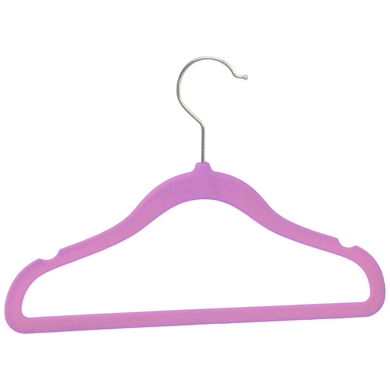 Children's Non-Slip Hangers 8pk - Pink & Purple