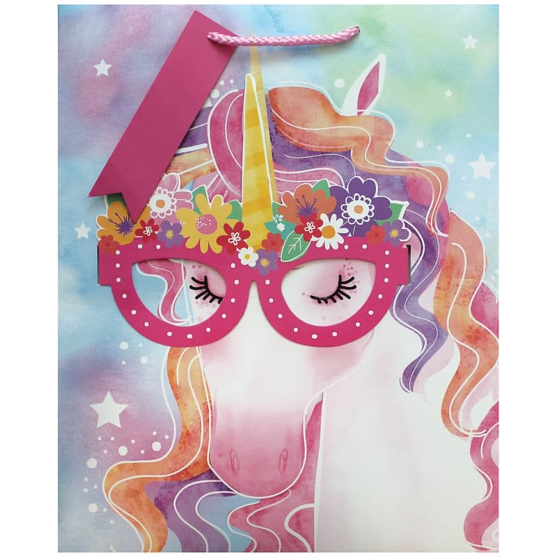 Gift Bag with Glasses - Unicorn