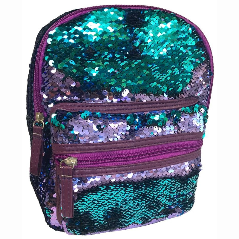 Mini Sequin Backpack - Blue to Purple