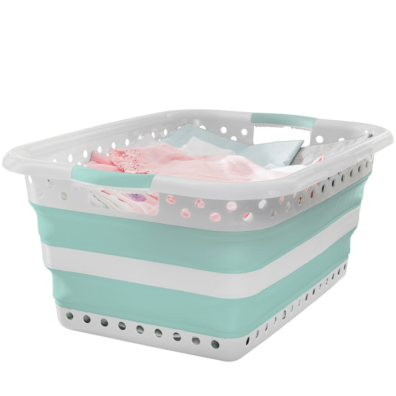 addis fold flat washing basket