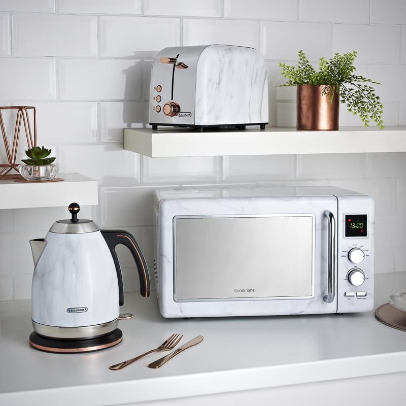 Goodmans Marble Effect Microwave Kitchen Appliances B Amp M