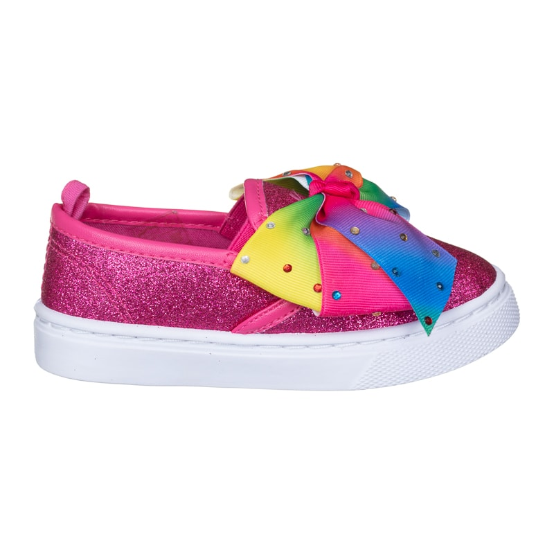 cb419f1f526cd Younger Girl Bow Canvas Shoes - Multi Colour   Kids Footwear - B&M