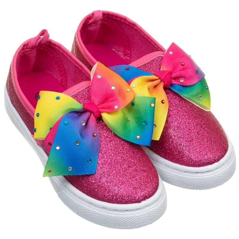 eccab2235d6a5 Older Girl Bow Canvas Shoes - Multi Colour   Kids Footwear - B&M