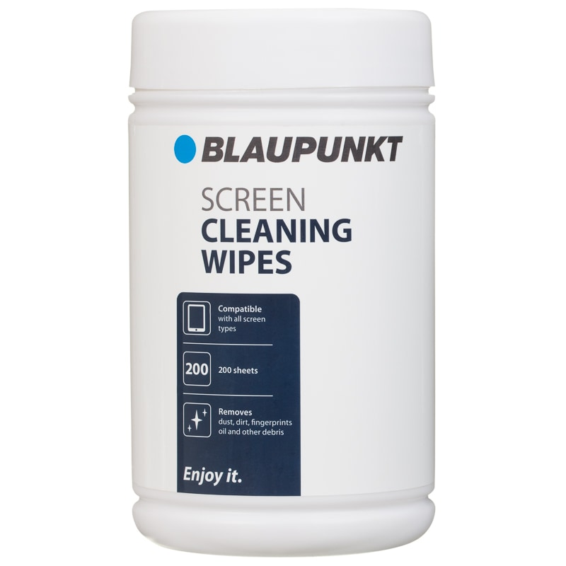 Blaupunkt Screen Cleaning Wipes 200pk Accessories B Amp M